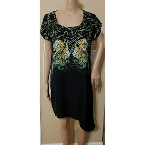 UO SILENCE + NOISE Black Tiger Print Dress Sz SM